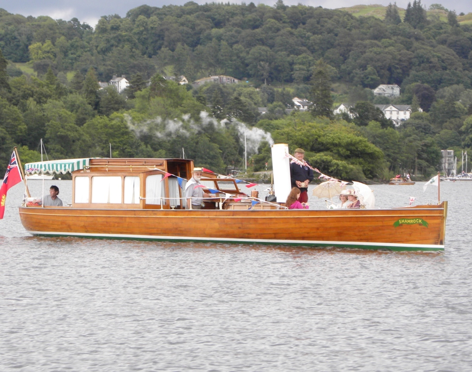 Shamrock at the 2014 Windermere Boat parade (photo: Les Edwards)